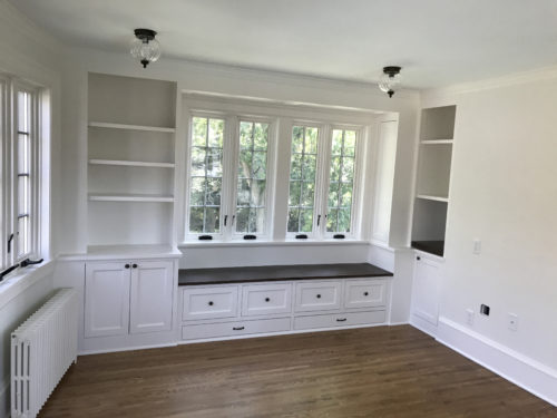 New built-ins by Elegance Custom Cabinetry