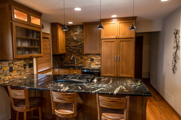 A newly remodeled kitchen constructed by DreamMaker Kitchen & Bath